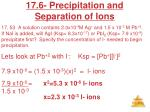 17 6 precipitation and separation of ions12