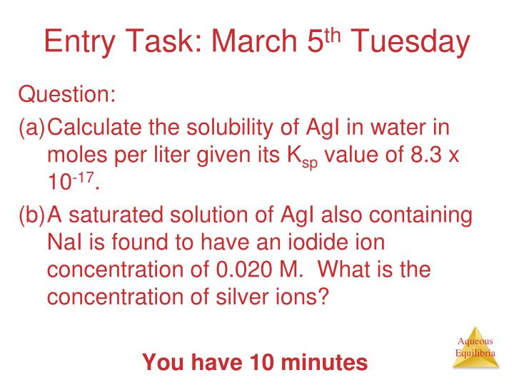 entry task march 5 th tuesday n.