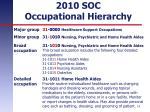2010 soc occupational hierarchy