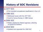 history of soc revisions