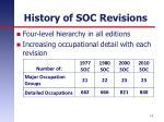 history of soc revisions1