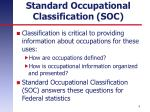 standard occupational classification soc1