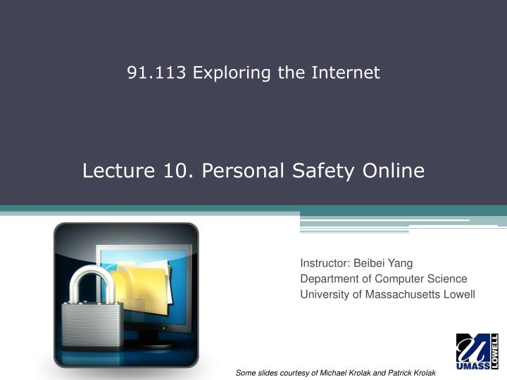 Lecture 10 personal safety online