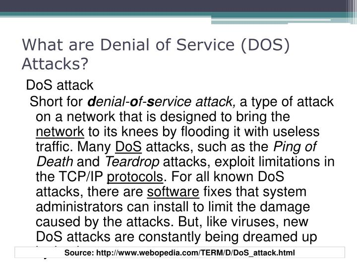 What are Denial of Service (DOS) Attacks?