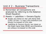 unit 2 business transactions2