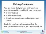making comments1