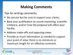 making comments2