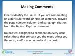 making comments4