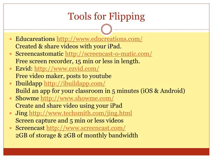 Tools for Flipping
