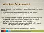 value based reimbursement