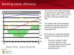 banking sector efficiency