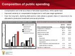 composition of public spending