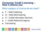 consumer credit licensing how it affects you1