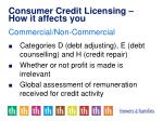 consumer credit licensing how it affects you14
