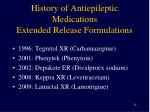 history of antiepileptic medications extended release formulations