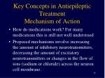 key concepts in antiepileptic treatment mechanism of action