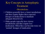 key concepts in antiepileptic treatment metabolism1