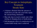 key concepts in antiepileptic treatment steady state