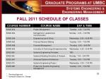 fall 2011 schedule of classes