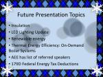 future presentation topics