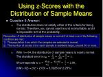 using z scores with the distribution of sample means5