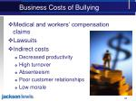 business costs of bullying