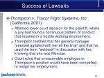 success of lawsuits