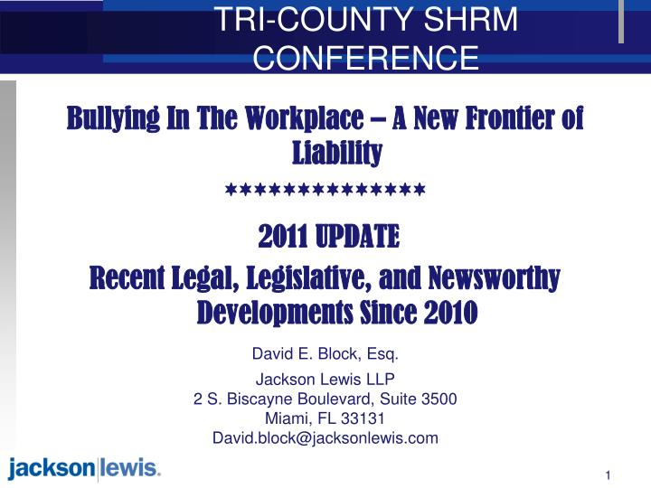 tri county shrm conference n.