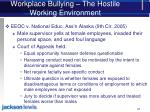 workplace bullying the hostile working environment