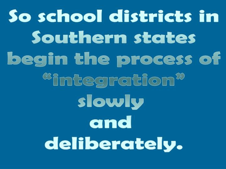 So school districts in