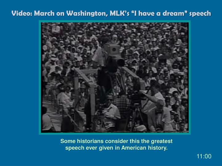 "Video: March on Washington, MLK's ""I have a dream"" speech"