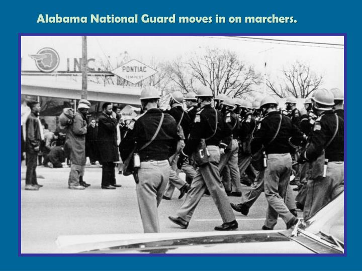Alabama National Guard moves in on