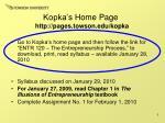 kopka s home page