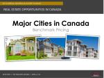 major cities in canada benchmark pricing