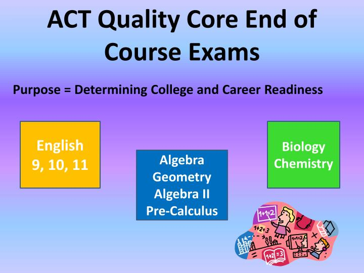 ACT Quality Core End of Course Exams