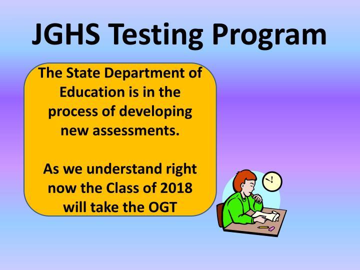 JGHS Testing Program