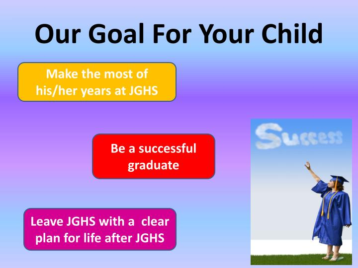 Our Goal For Your Child