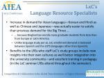 lxc s language resource specialists
