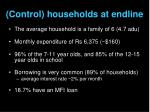 control households at endline