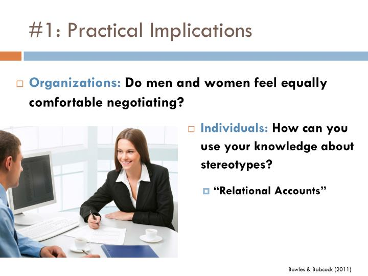 #1: Practical Implications