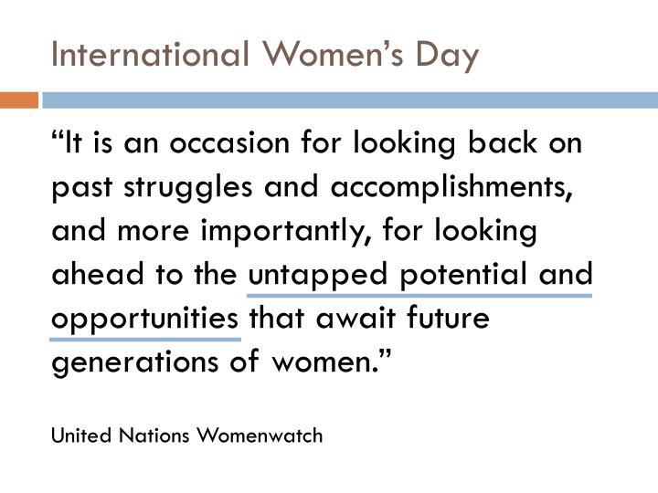 International women s day1