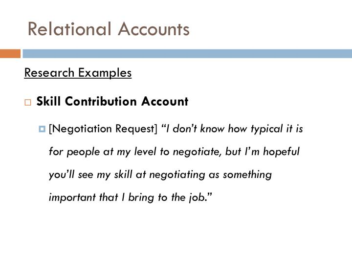 Relational Accounts