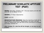preliminary scholastic aptitude test psat