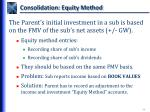 consolidation equity method
