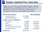 example acquisition price book value