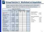 group exercise 2 worksheet at acquisition