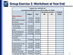 group exercise 2 worksheet at year end