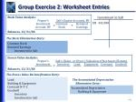 group exercise 2 worksheet entries