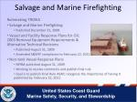 salvage and marine firefighting