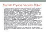 alternate physical education option